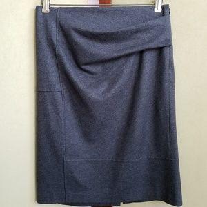 Brunello Cucinelli Gunex Gray Wool Skirt Size 8